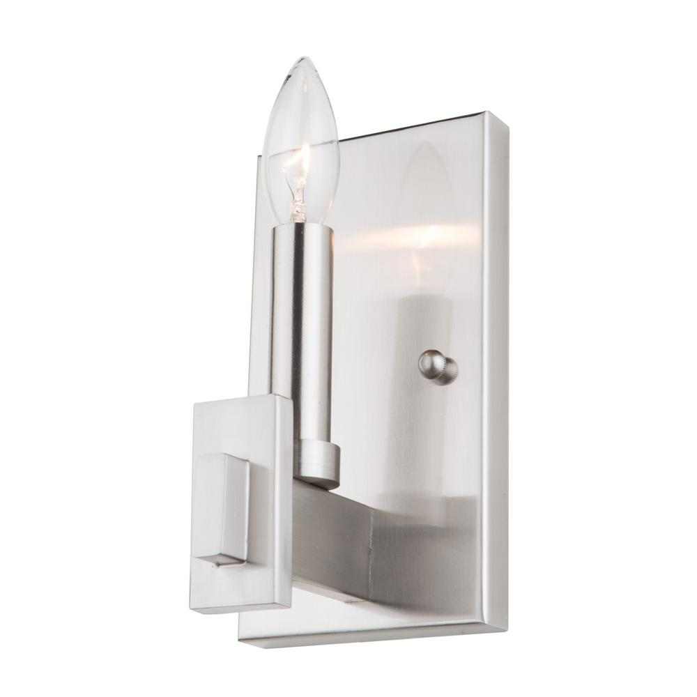 finish nickel led modern sconce lighting albion loading hudson valley wall wide nbsp hud pn polished zoom