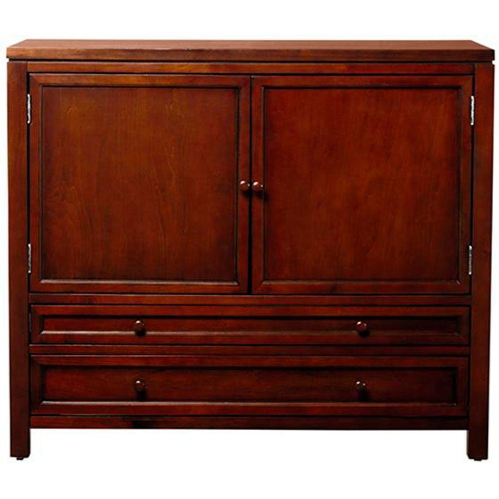 Martha Stewart Living 42 in. Wood Craft Space Storage Cabinet in Sequoia