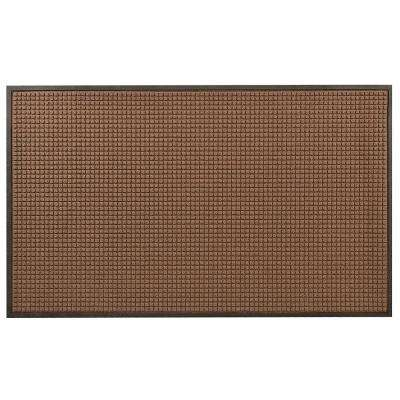 Guzzler Brown 36 in. x 120 in. Rubber-Backed Entrance Mat