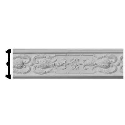 7/8 in. x 4-3/4 in. x 96 in. Polyurethane Lisbon Chair Rail Moulding
