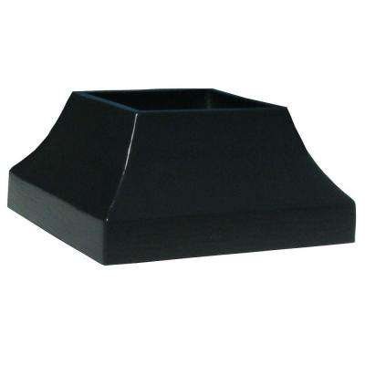 3 in. x 3 in. Bronze Aluminum EZ Post Decorative Base Cover