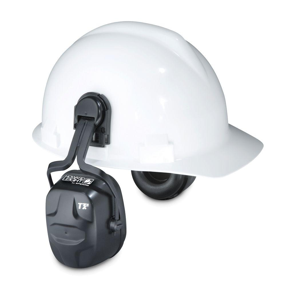 Howard Leight Thunder T3H Noise Blocking Cap-Mounted Earmuffs with 13910039 Cap-Mount Adapter