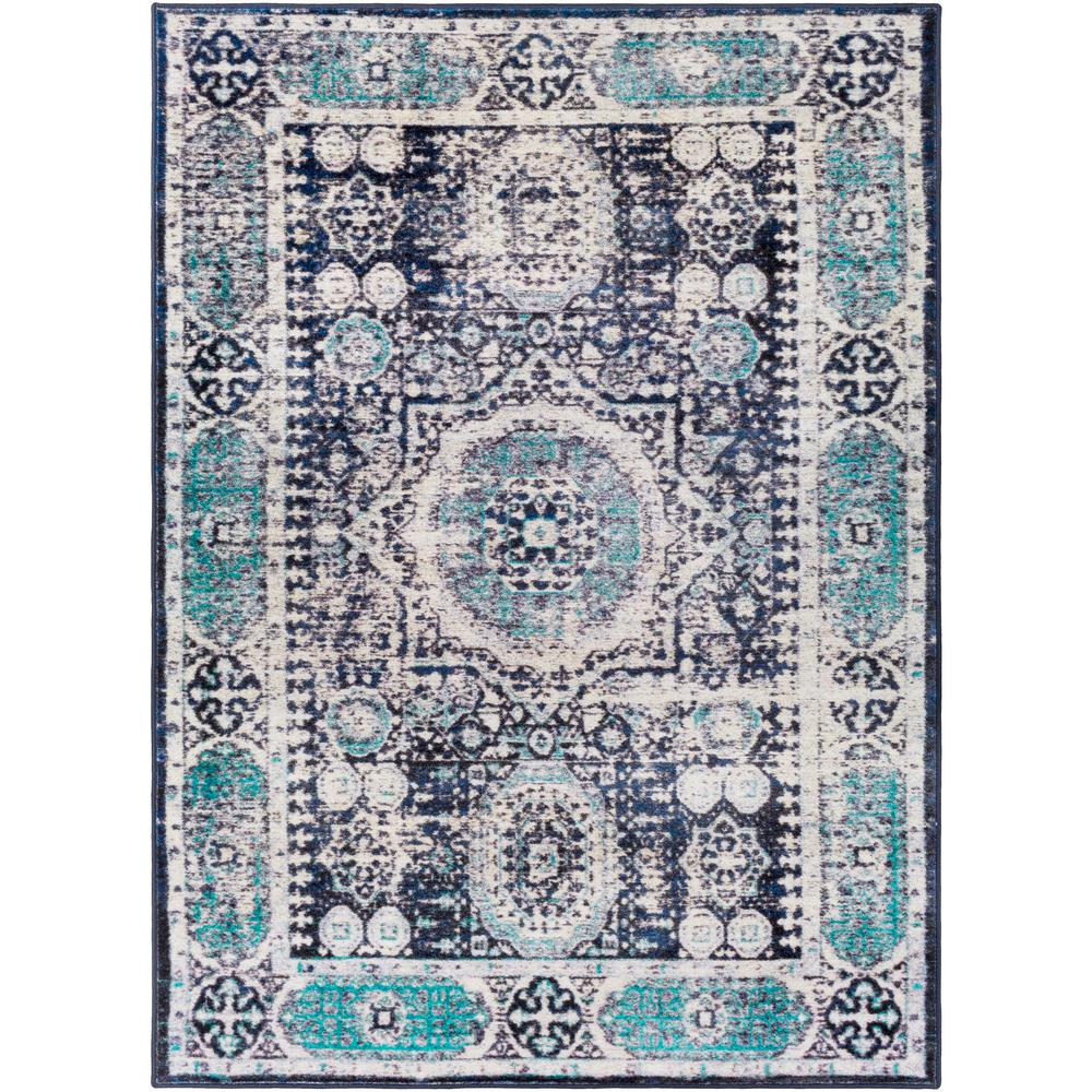 Artistic weavers deighton bright blue 2 ft x 3 ft accent for Bright blue area rug
