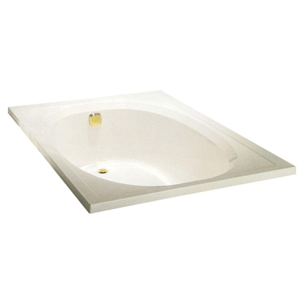STERLING Tranquility 5 ft. Front Drain Soaking Tub in Almond-DISCONTINUED