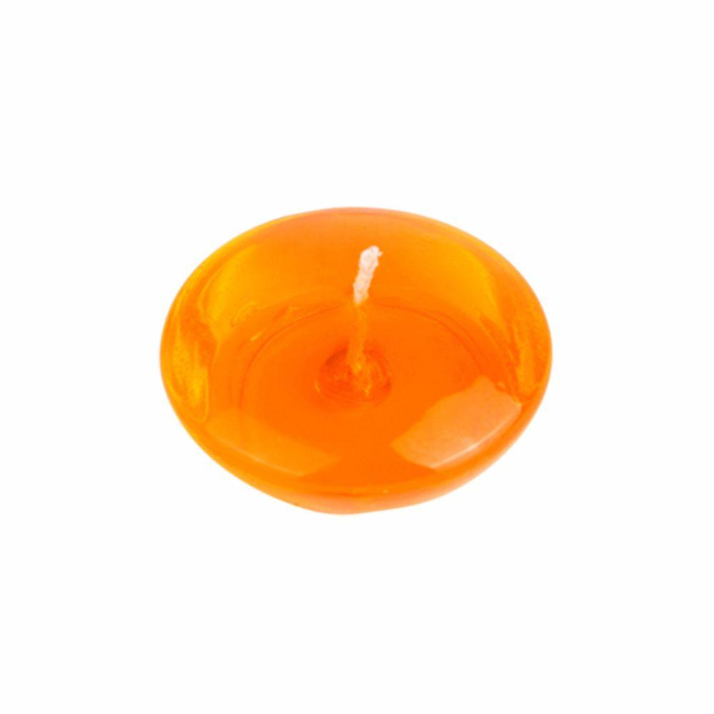 3 in. Clear Orange Gel Floating Candles (6-Box)