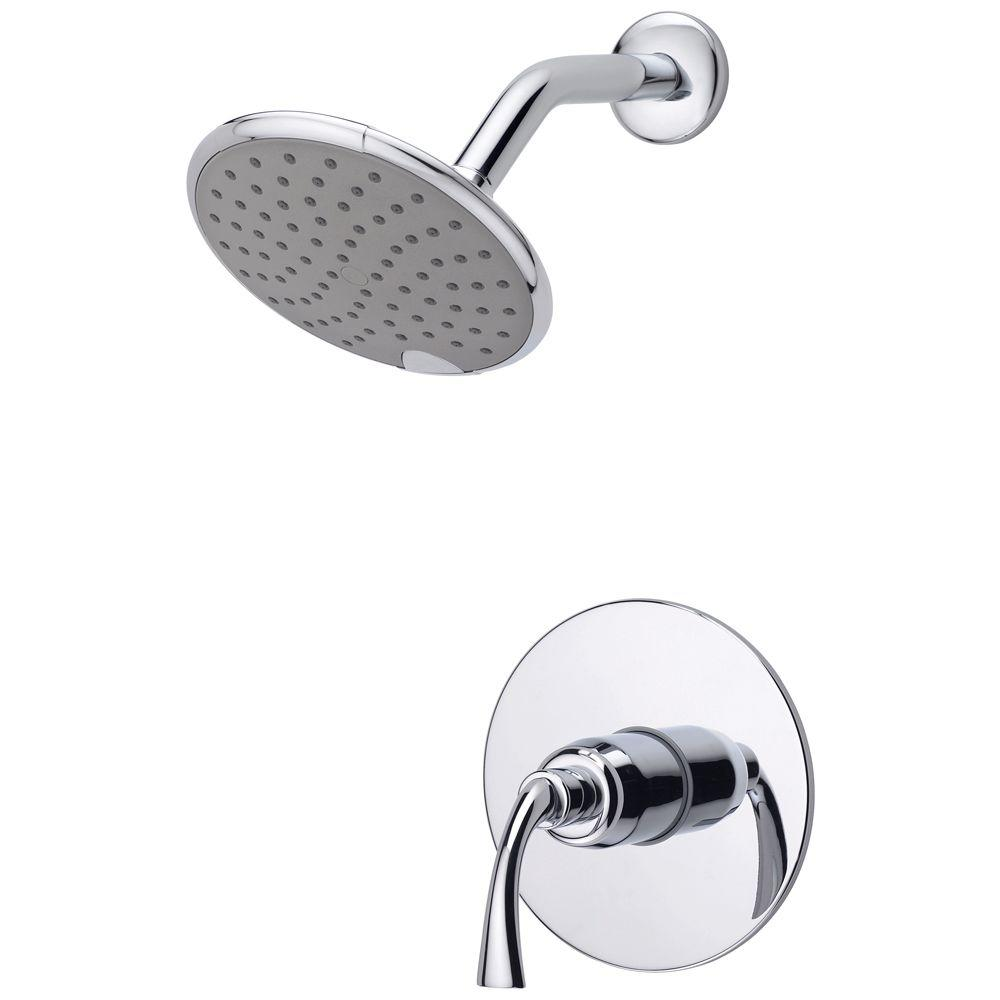 Delta Foundations Single Handle 1 Spray Shower Faucet in Chrome  Valve  Included  B112900   The Home Depot. Delta Foundations Single Handle 1 Spray Shower Faucet in Chrome