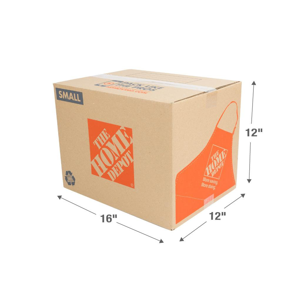 The Home Depot 16 in. L x 12 in. W x 12 in. D Small Moving Box