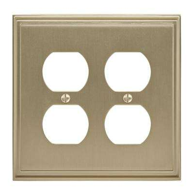Mulholland 2 Receptacle Golden Champagne Wall Plate