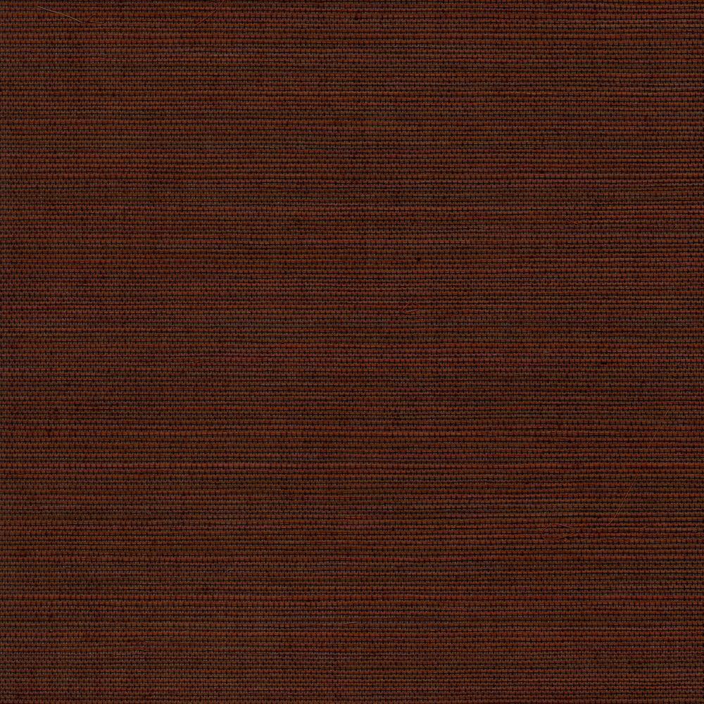 The Wallpaper Company 72 sq. ft. Brown Sisal Wallpaper