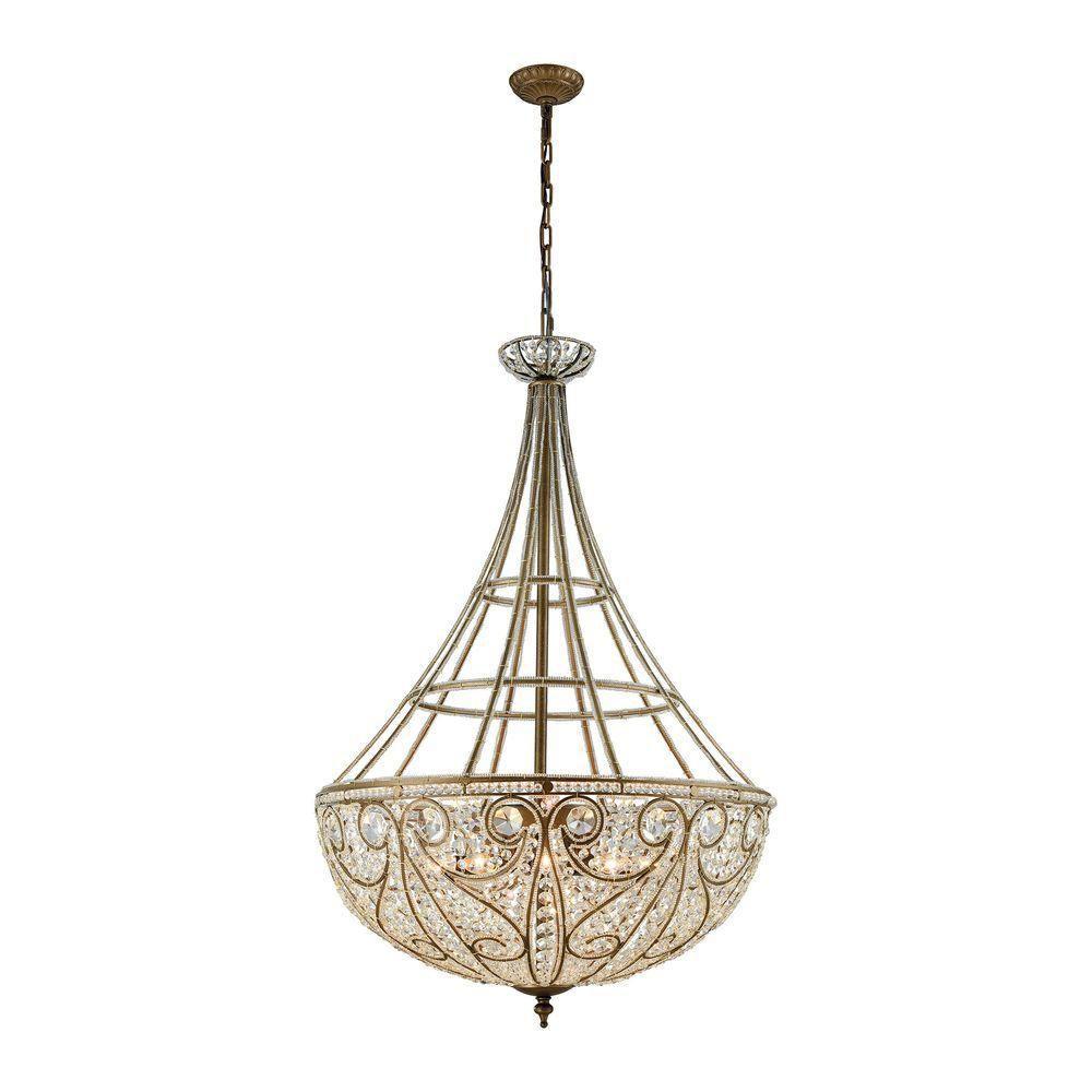 Elizabethan 10-Light Dark Bronze LED Pendant