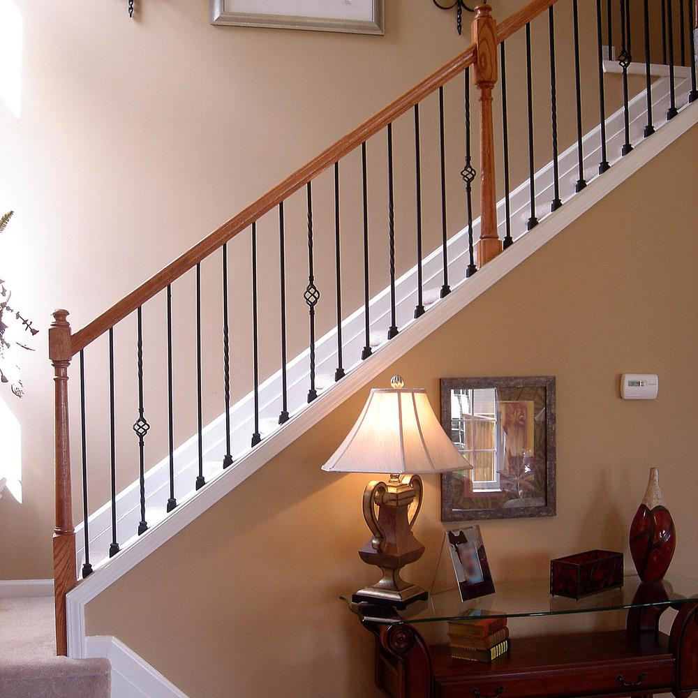 17 best images about classic stairs balusters and newels.htm stair parts 44 in x 5 8 in satin black metal plain baluster  satin black metal plain baluster