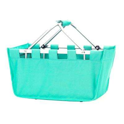Mint Polyester Market Tote Bag