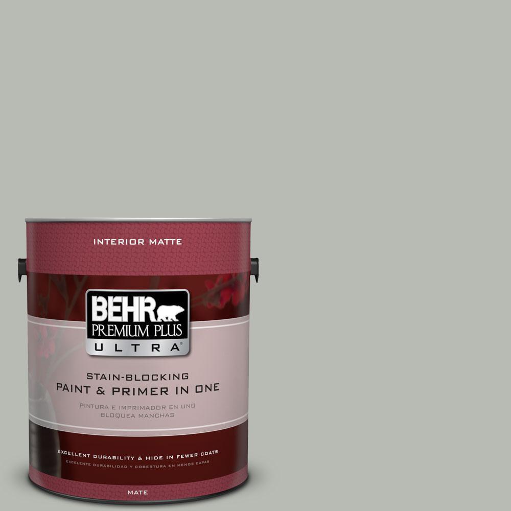BEHR Premium Plus Ultra Home Decorators Collection 1 gal. #HDC-AC-21 Keystone Gray Flat/Matte Interior Paint