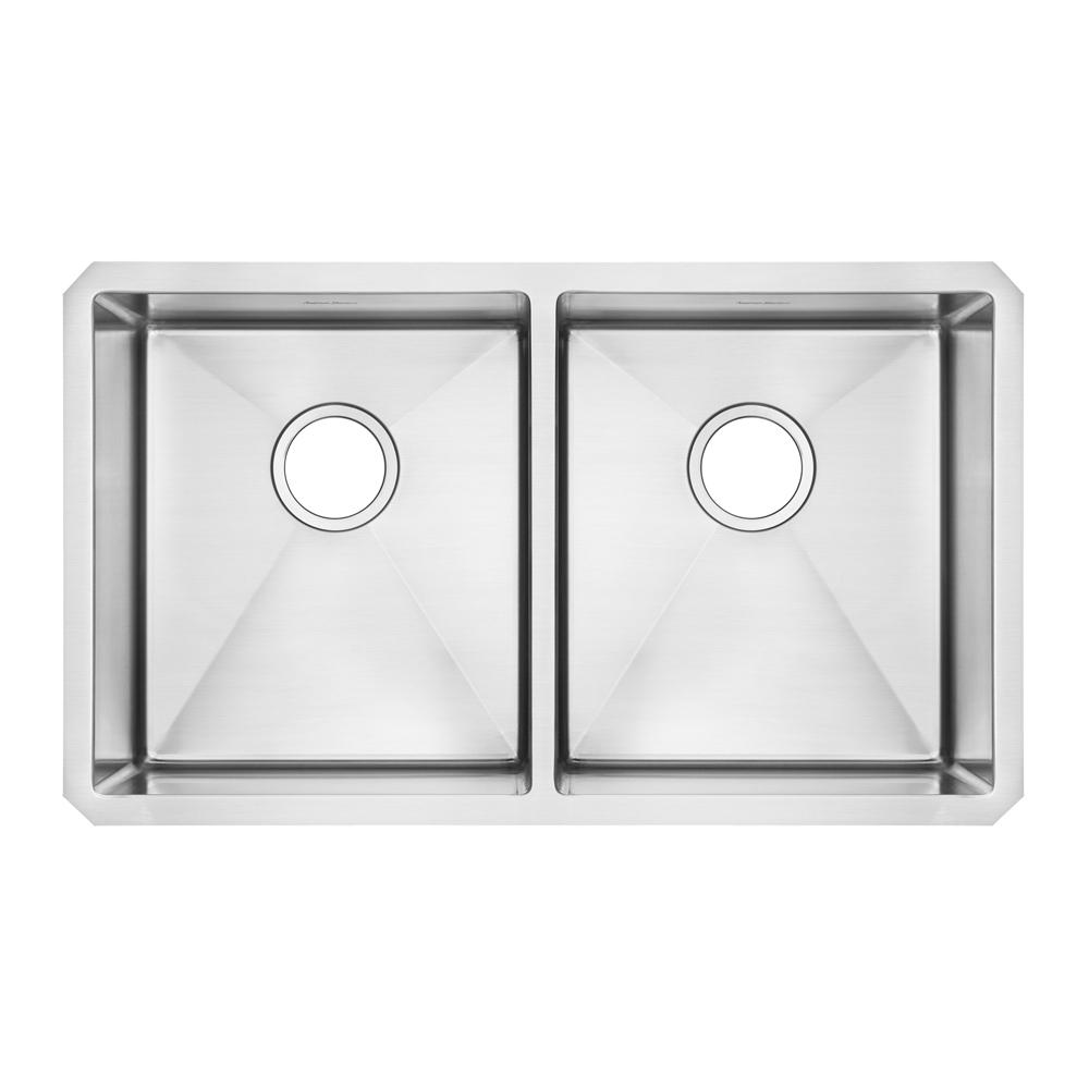 Pekoe Undermount Stainless Steel 29 in. Double Basin Kitchen Sink Kit
