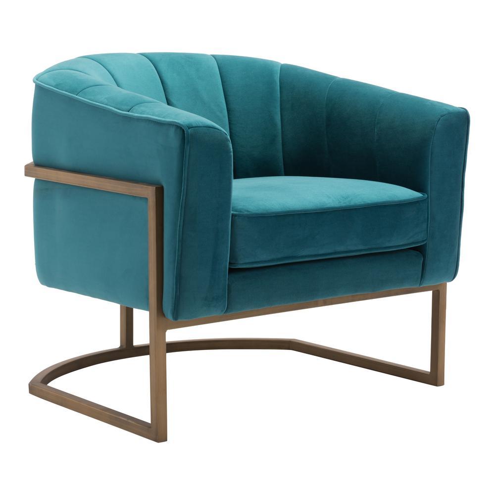 Lyric Green Velvet Occasional Chair