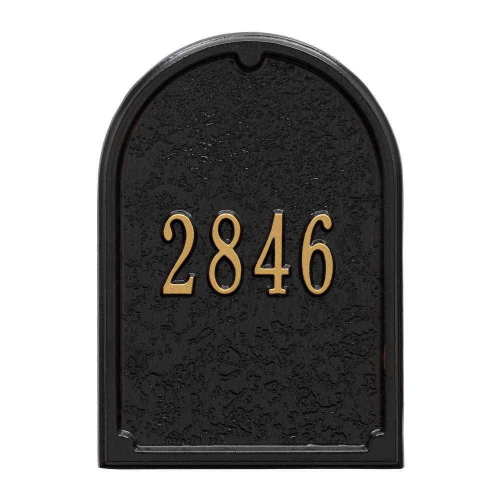 Whitehall Products Mailbox Door Panel in Black/Gold  sc 1 st  Home Depot & Whitehall Products Mailbox Door Panel in Black/Gold-1424BG - The ...