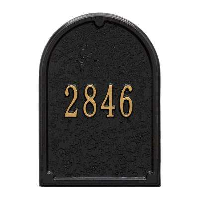 Mailbox Door Panel in Black/Gold