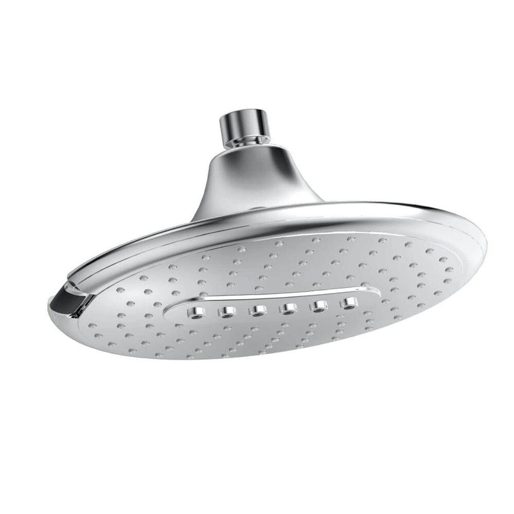 PULSE Showerspas Genie 2-Spray 9.5 in. Fixed Showerhead with Multi-Functions in Chrome