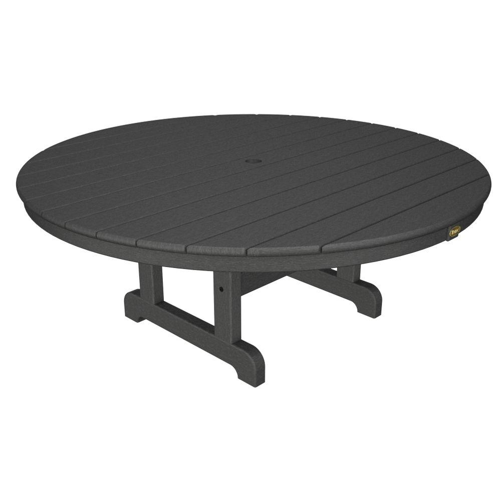 Trex Outdoor Furniture Cape Cod Stepping Stone 48 In. Round Outdoor  Conversation Table