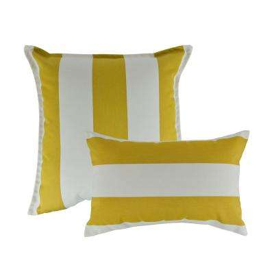 Cabana Citron Combo Outdoor Pillow
