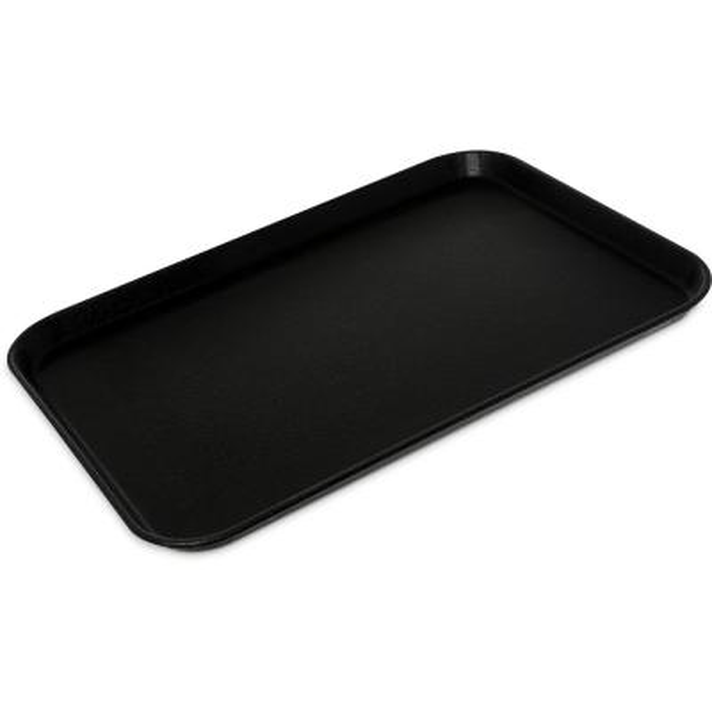 Griptite2 22 in. x 16 in. x 1 in. Black Fiberglass/Steel Rectangle Serving Tray (6-Pack)