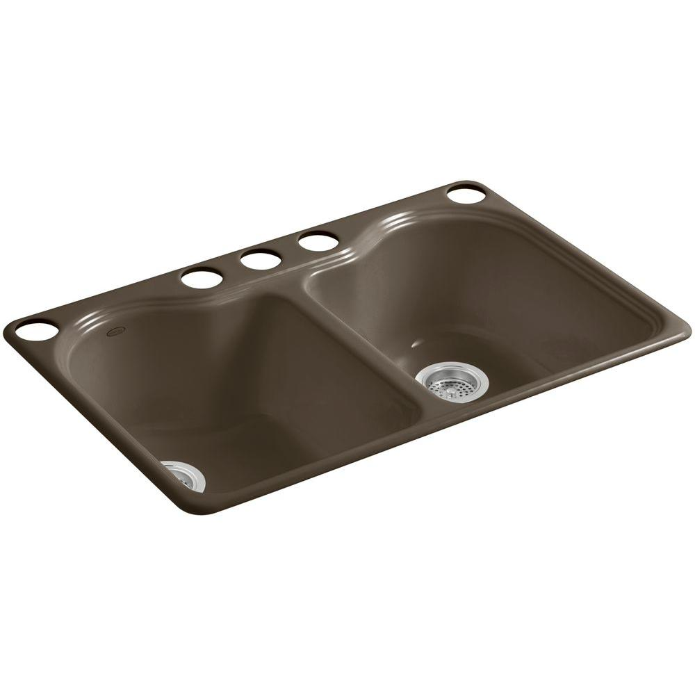 Top Mount  Hole Cast Iron Kitchen Sink