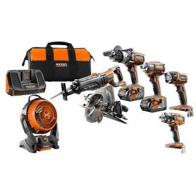 GEN5X 18-Volt 5-Piece Combo Kit with BONUS 18-Volt Brushless Impact Wrench and Hybrid Fan