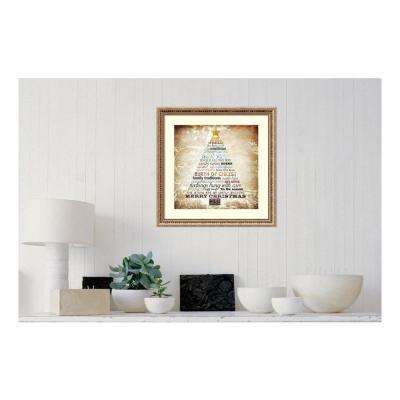 23 in. W x 23 in. H 'Christmas Tree Subway Art' by Sally Barlow Framed Print Wall Art