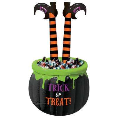 55 in. Halloween Witch Legs Inflatable Cooler