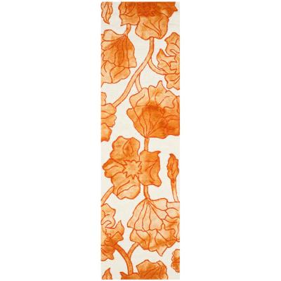 Dip Dye Ivory/Orange 2 ft. x 8 ft. Runner Rug