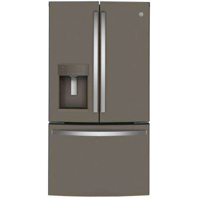 22.1 cu. ft. French Door Refrigerator in Slate, Fingerprint Resistant, Counter Depth and ENERGY STAR