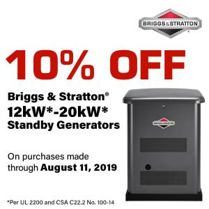 Briggs & Stratton 12,000-Watt Automatic Air-Cooled Standby