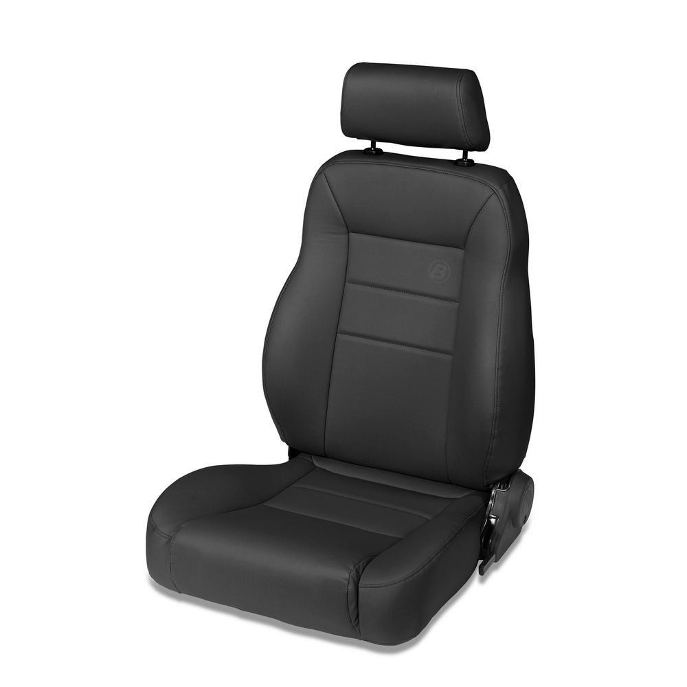 Bestop Trailmax Ii Pro Black Denim All Vinyl Front Driver Side Seat For 76 86 Cj7 87 95 Wrangler Yj 97 06 Wrangler Tj 39451 15 The Home Depot