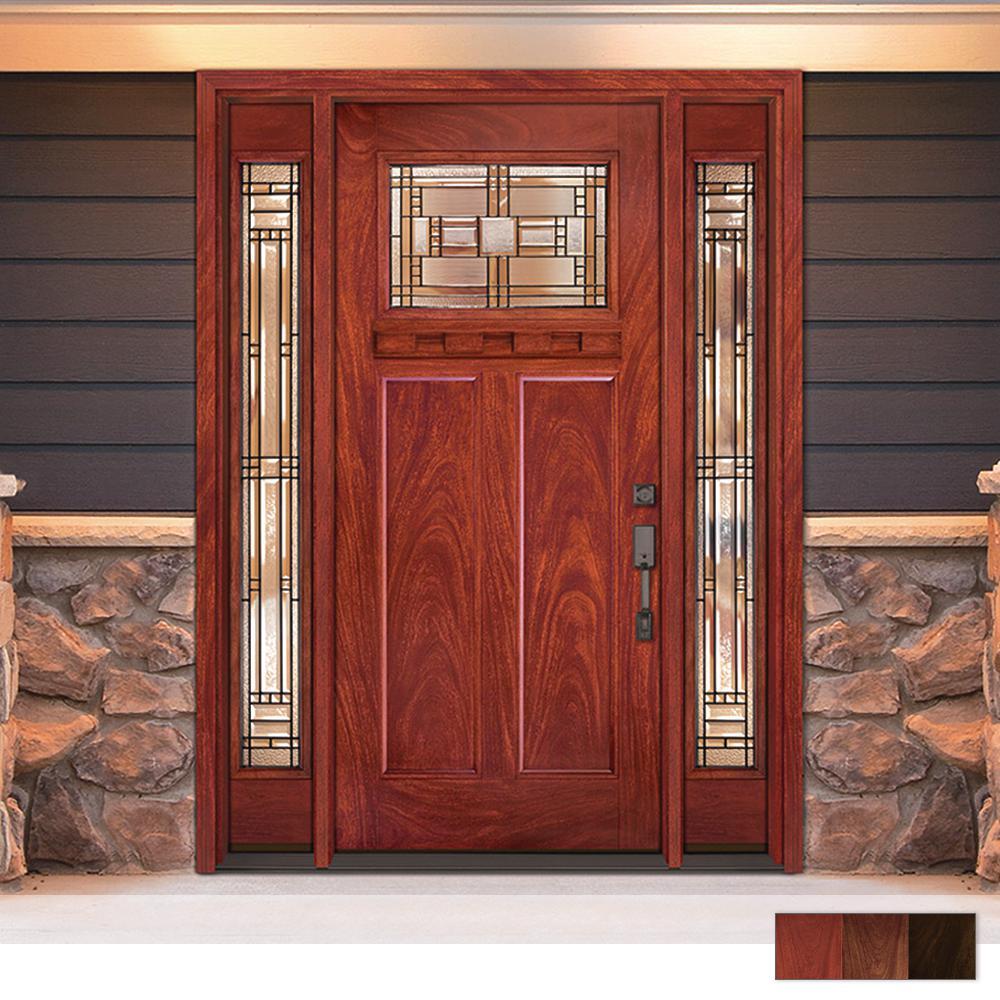 Preston Collection Customizable Fibergl Prehung Front Door