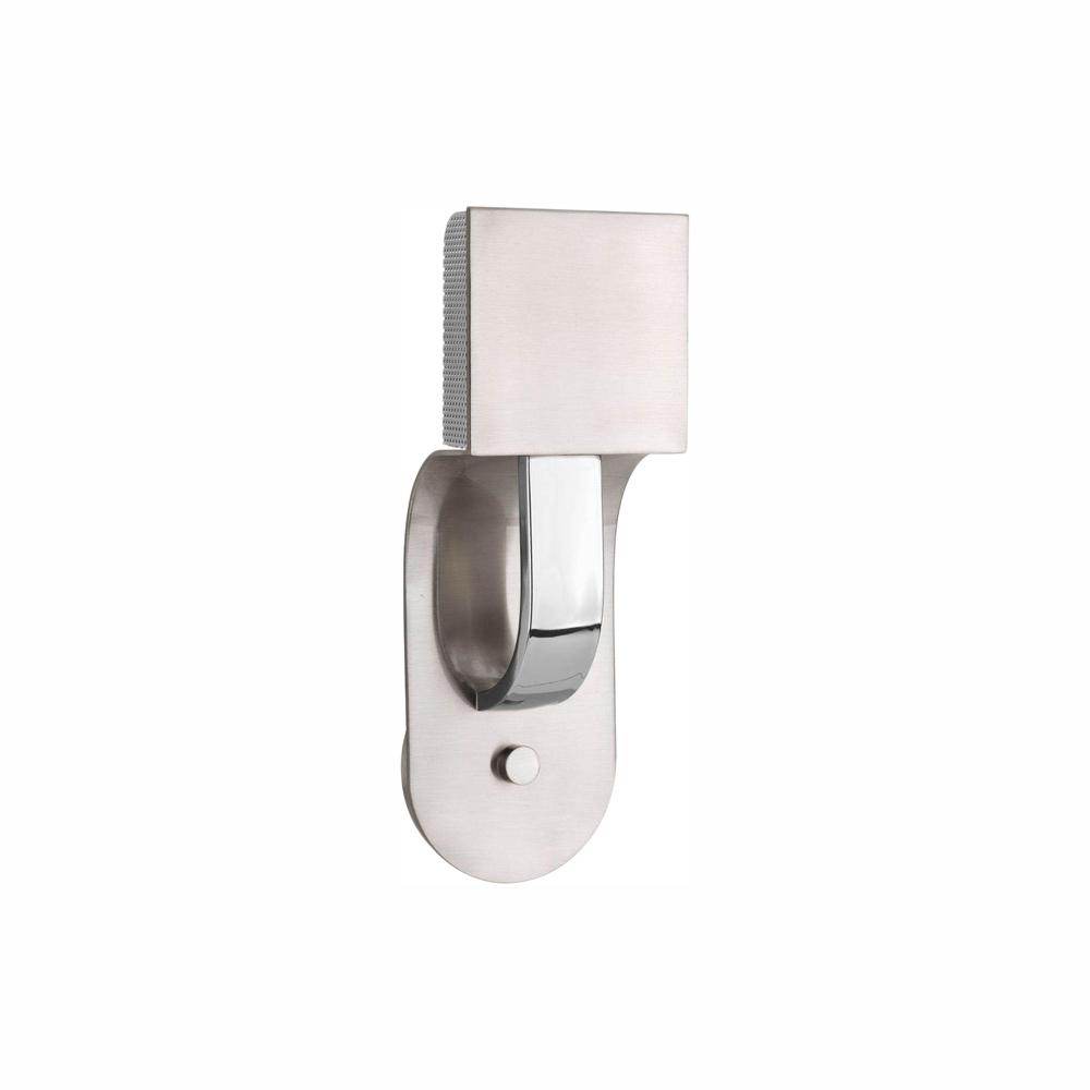 Progress Lighting Dash LED Collection 1-Light Brushed Nickel LED Wall Sconce with Metal Shade