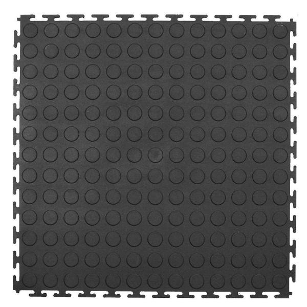 18 in. x 18 in. Rubber Utility Flooring (13.5 sq. ft. / pack)