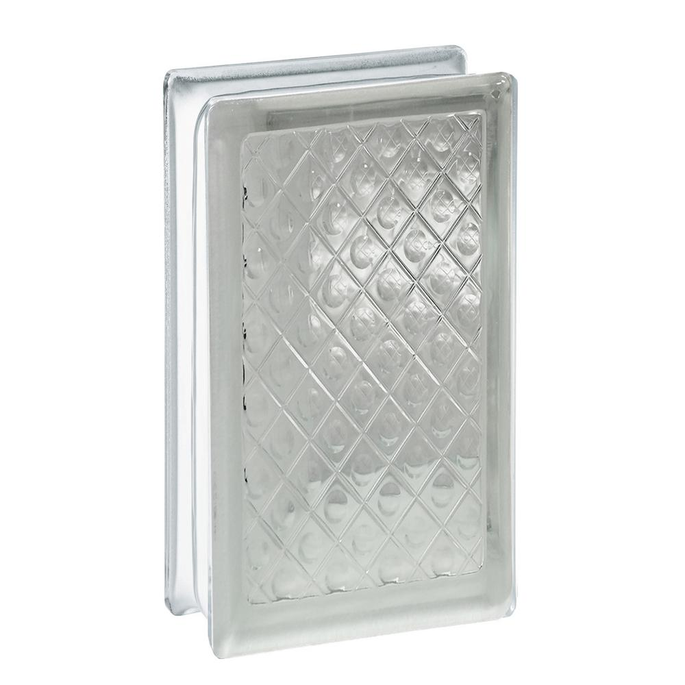 Clearly Secure 3.75 in. x 7.75 in. x 3.12 in. Diamond Pattern Glass ...