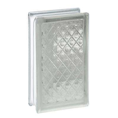 3.75 in. x 7.75 in. x 3.12 in. Diamond Pattern Glass Block (10-Pack)