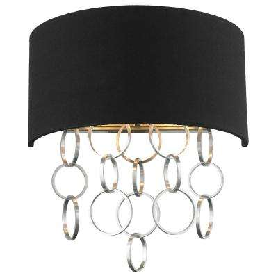 Catena 2-Light Matte Nickel Wall Sconce