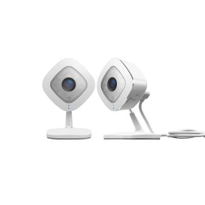 Indoor 1080p Wi-Fi Security Camera in White/Black (2-Pack)