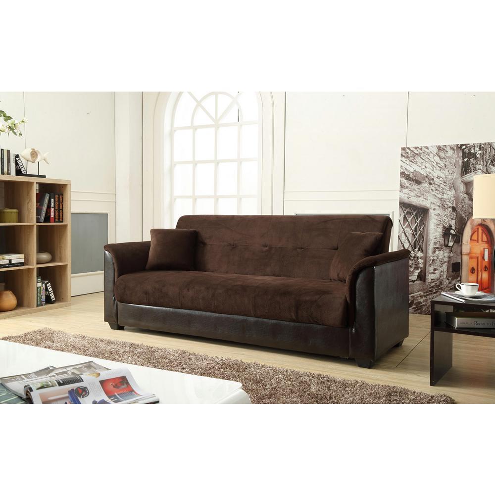 inter   302779494   4  champion futon chocolate     champion futon chocolate sofa bed with storage 72016 06ch   the      rh   homedepot