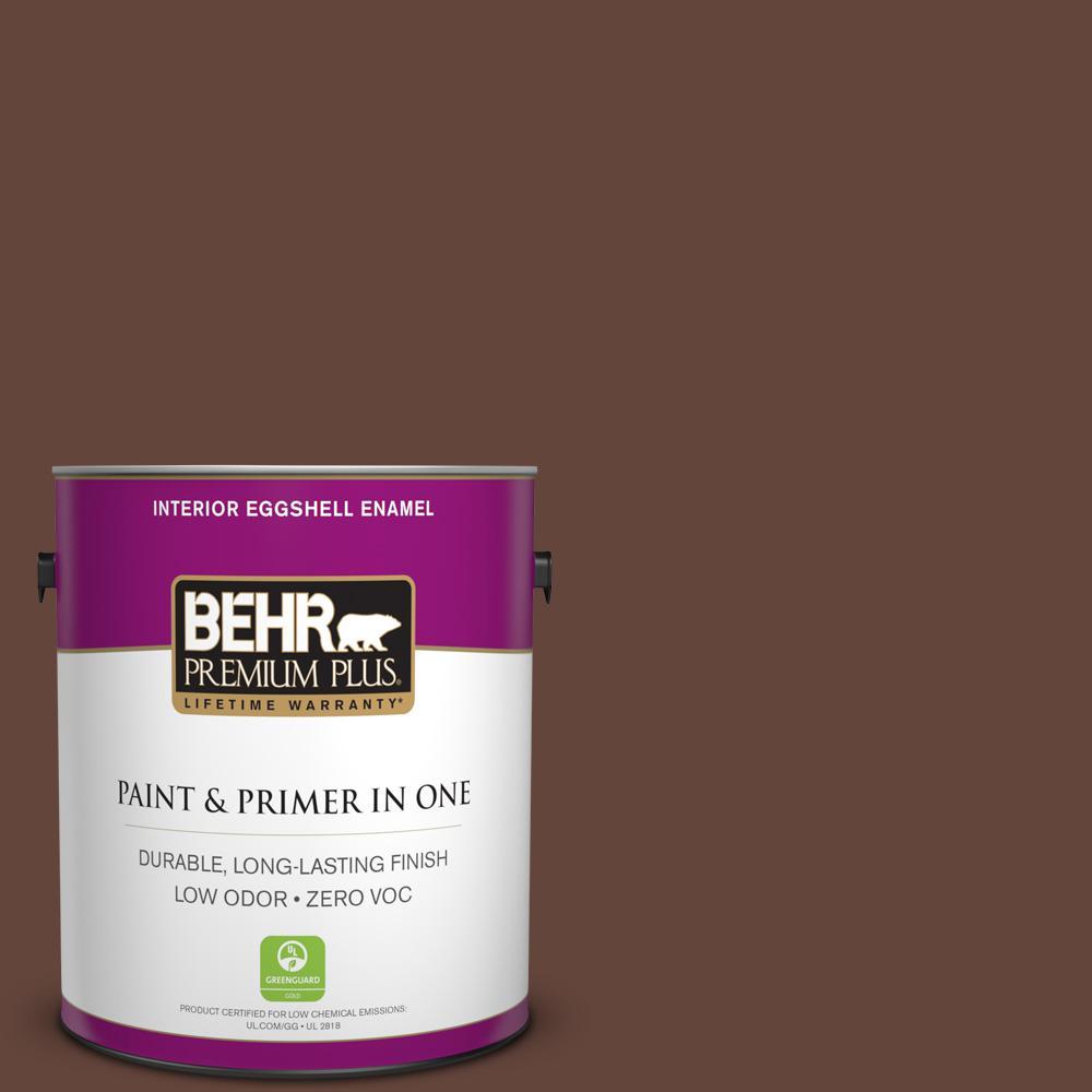 BEHR Premium Plus 1-gal. #770B-7 Chocolate Sparkle Zero VOC Eggshell Enamel Interior Paint