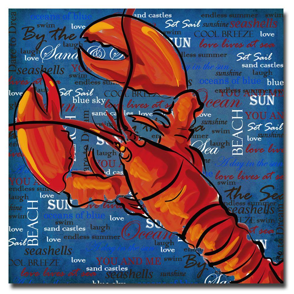 Trademark Fine Art 24 in. x 24 in. Lobster III Canvas Art-DISCONTINUED