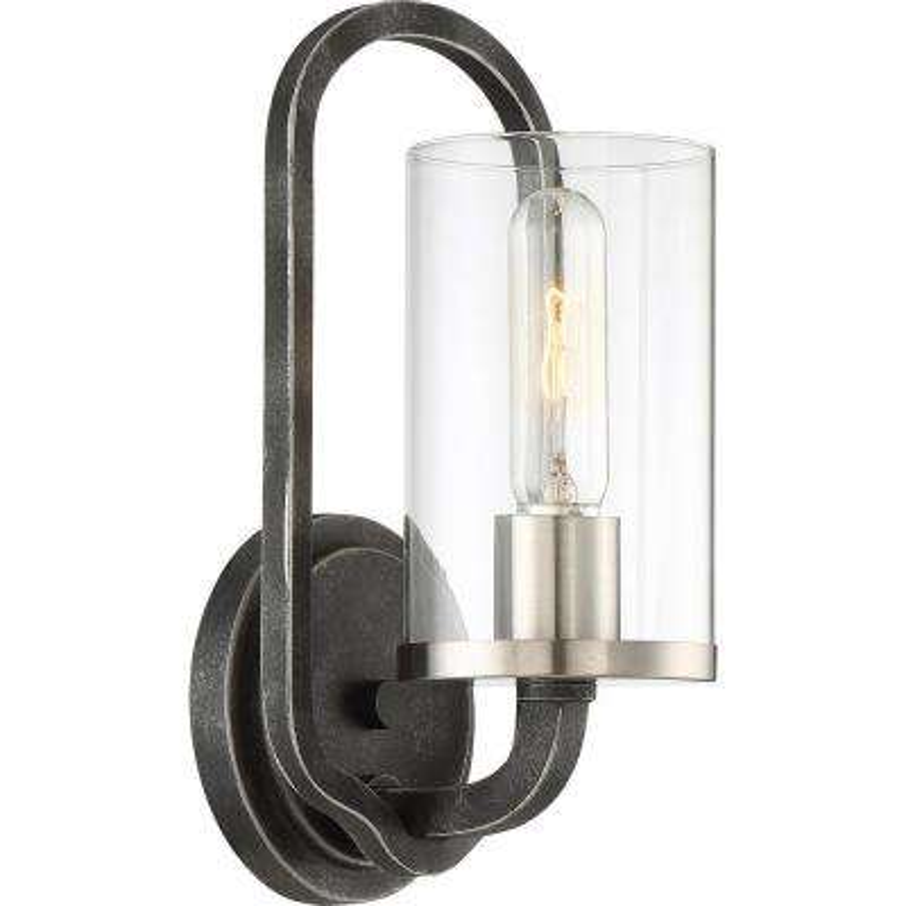 1-Light Iron Black Wall Sconce
