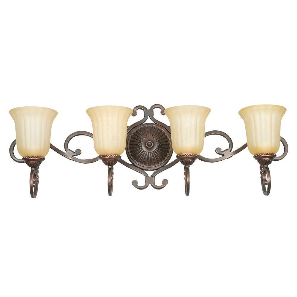 Graham 4-Light Mahogany Vanity Light