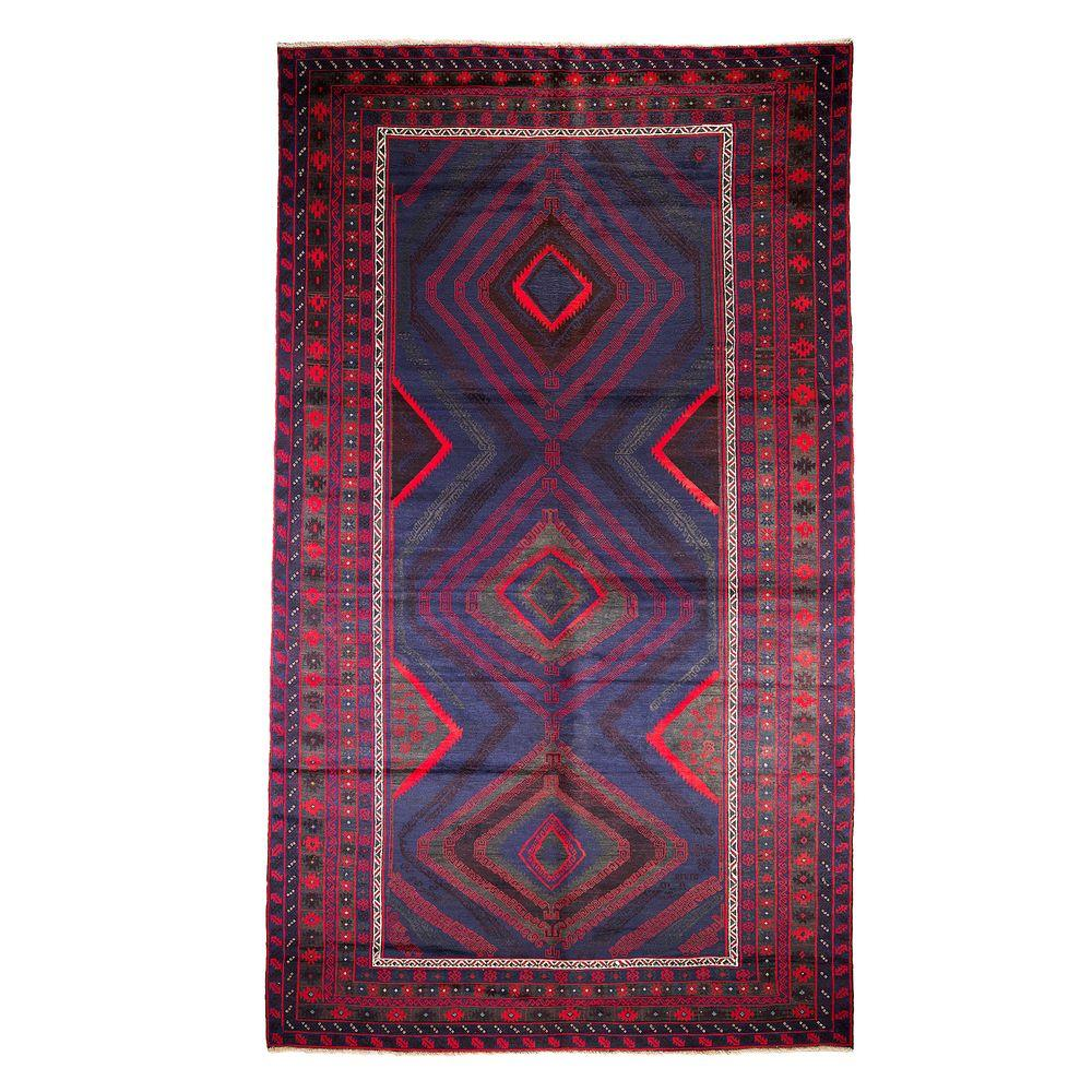 Darya Rugs Tribal Blue 8 ft. 2 in. x 14 ft. 1 in. Indoor Area Rug