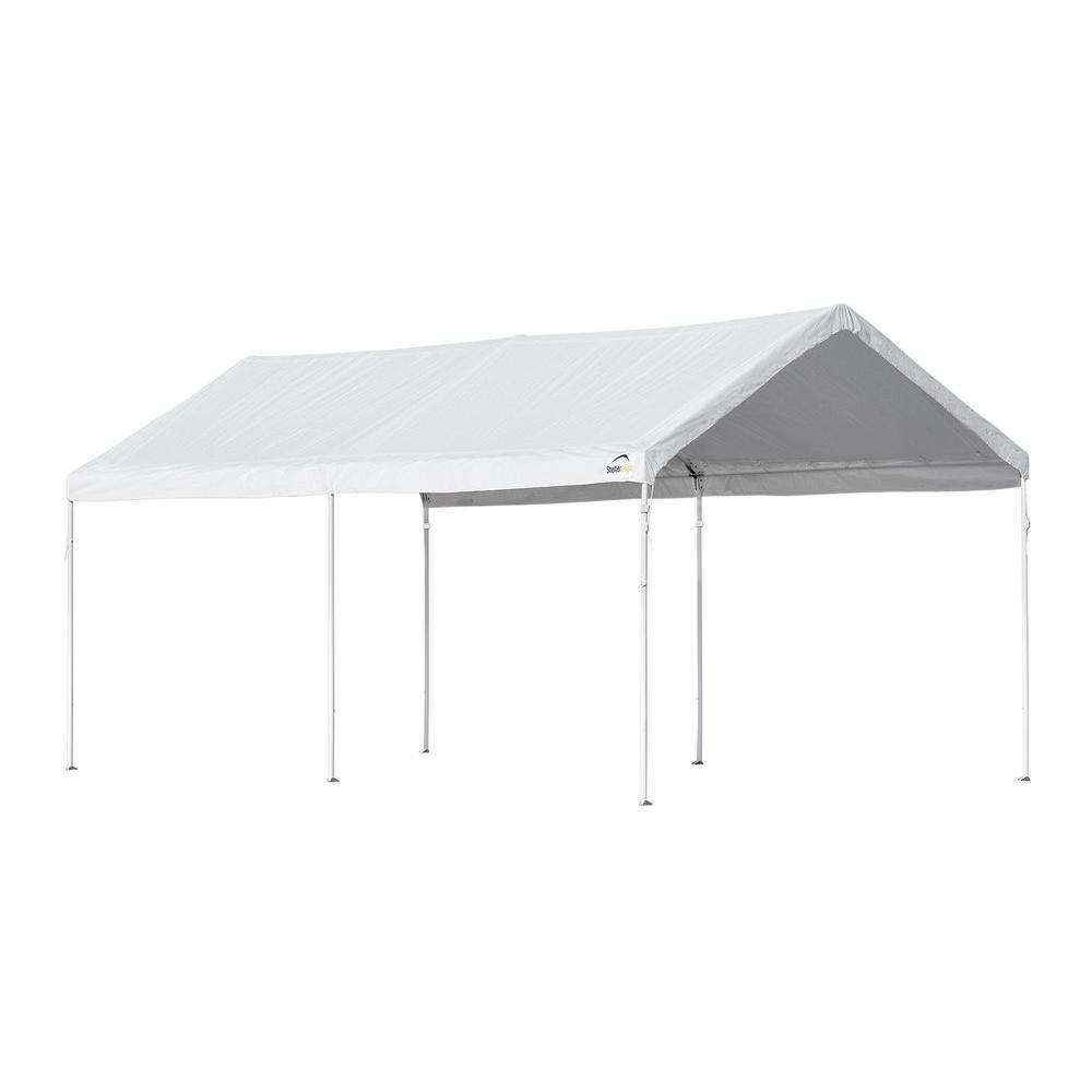 Home Depot Shelterlogic : Shelterlogic pro series ft white straight leg