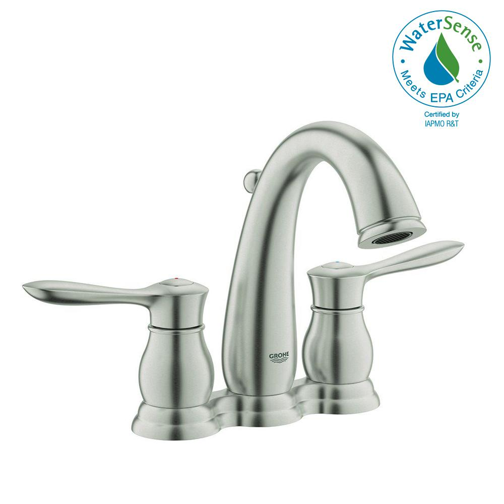 Parkfield 4 in. Centerset 2-Handle Bathroom Faucet in Brushed Nickel