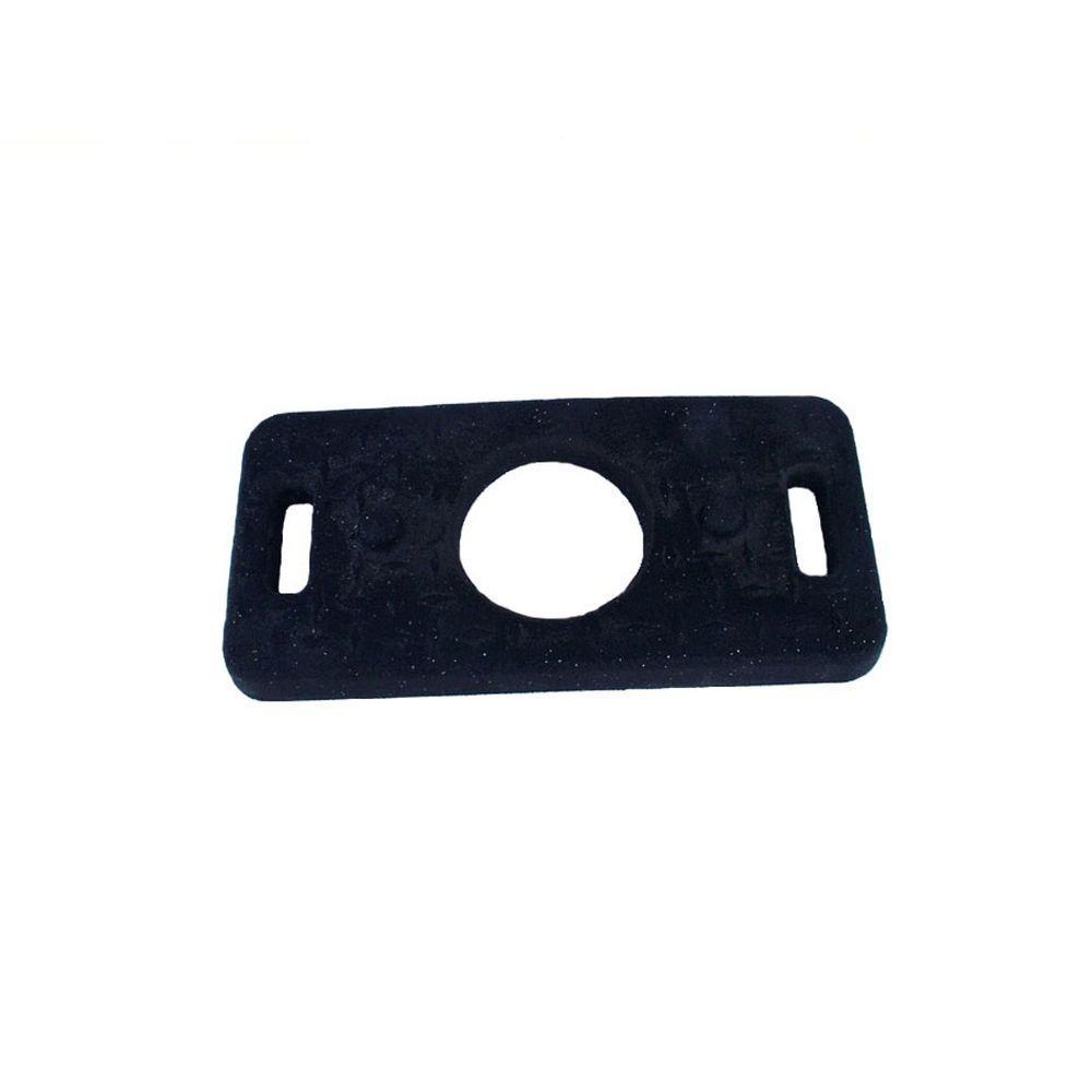 20 lb. Black Rubber Stackable Channelize Base