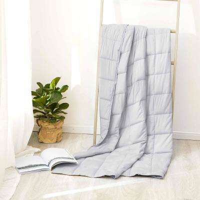 Grey 100% Cotton 20 lbs. Weighted Blanket